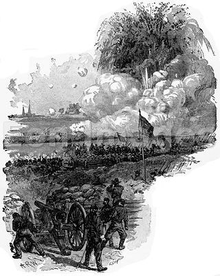 Civil War: explosion of mine before Petersburg