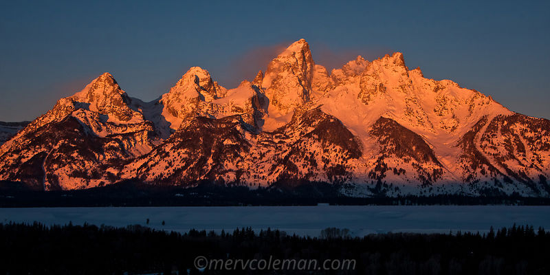 663 January Teton Alpenglow