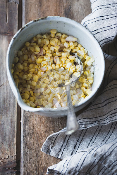 Sweetcorn in a bowl