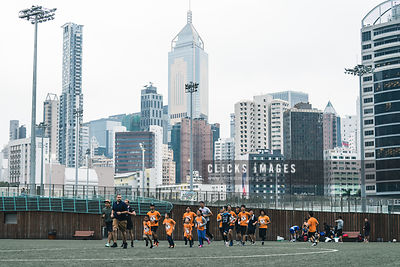 Football Clinic event with NFL Star Ashley Lelie host by Passing Play at Happy Valley Sports Ground on November 19, 2017 in Hong Kong. / Lampson Yip / Clicks Images
