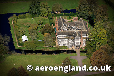 aerial photograph of  Little Moreton HallCheshire England UK