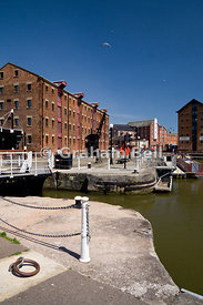 Gloucester Historic Dock, Gloucestershire, England.
