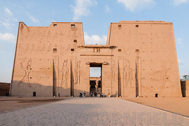 Pylons at Edfu temple.