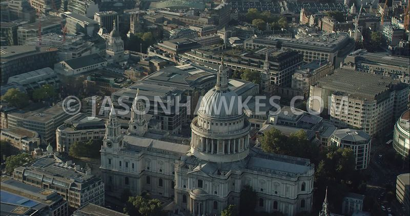 London Aerial Footage of St Paul's Cathedral