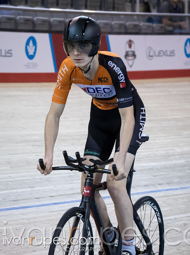 U17 Men Pursuit Final. 2016/2017 Track O-Cup #3/Eastern Track Challenge, Mattamy National Cycling Centre, Milton, On, February 11, 2017