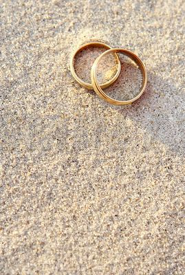 Wedding Rings in the sand