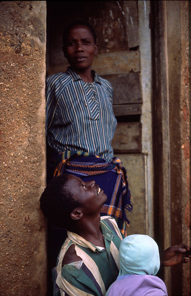 Rwanda - Kibileze - Pascal and his wife, both live with HIV