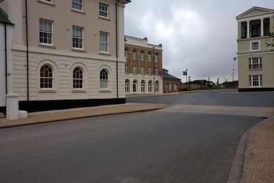 UK - Dorset - A traditionally styled building in Poundbury.