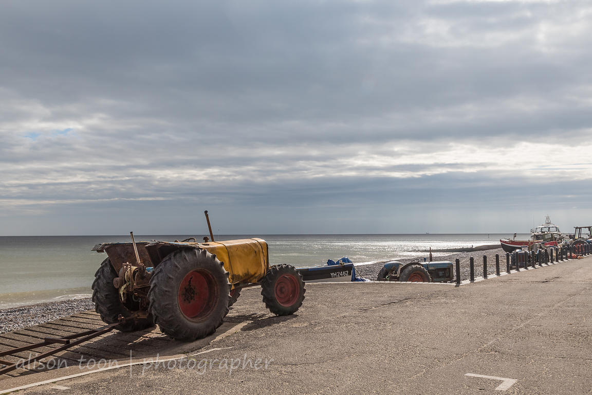 Fishermens' tractors on the beach