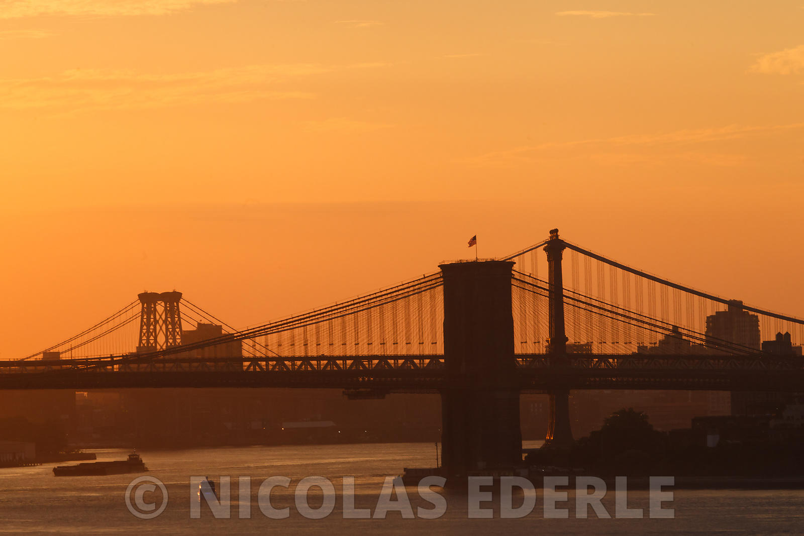 Brooklyn Bridge at dawn (New-York, juillet 2017)