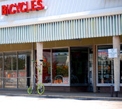 Bicycle shop in Plymouth Park shopping center in Irving, TX (now defunct)