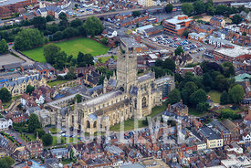 Aerial Photography Taken In and Around Gloucester-Gloucester Cathedral