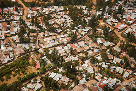 Aerial photograph of Ethiopian homes