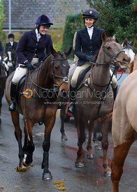 Kelly Morgan, Zoe Gibson at the meet - The Cottesmore at Knossington 22/11