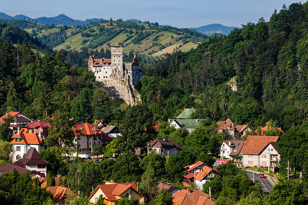 Elevated View of Bran Castle