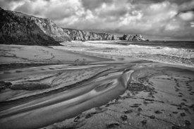 Tide shaping Cornish beach