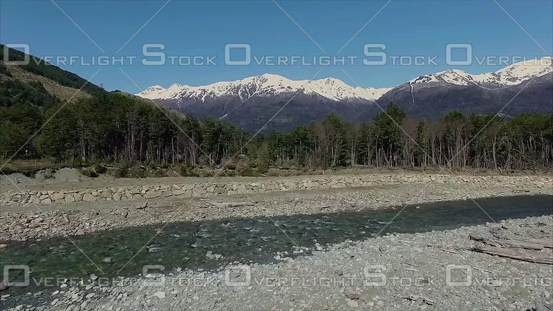 River and Mountain Scenic Patagonia Chile South America