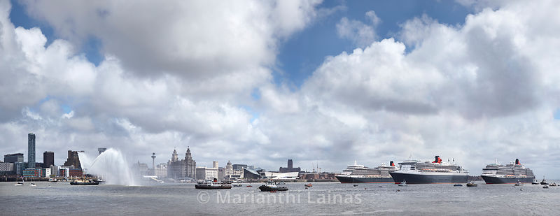 The Three Queens, River Mersey, May 2015