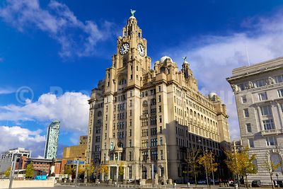 The Royal Liver Building on a Sunny Day