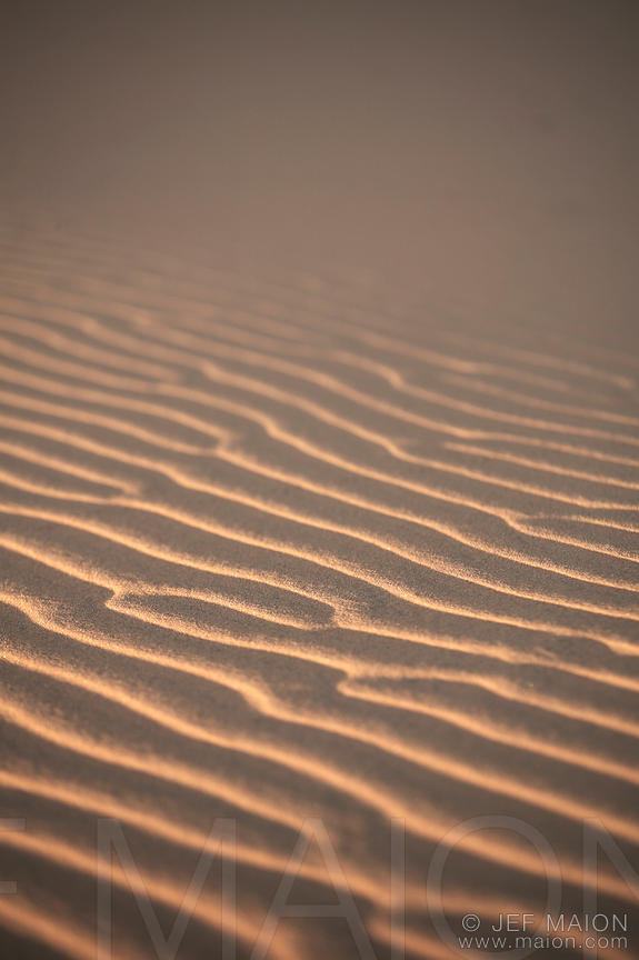 Wind created pattern on sand