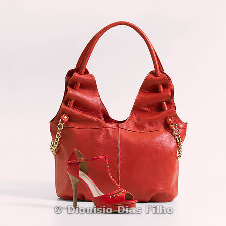 Red bag and shoe set