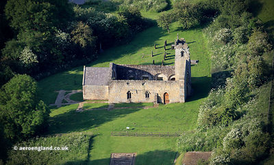 the ruins of  St Martin's parish church Wharram Percy DMV - deserted medieval village