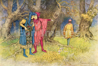 Three Revellers and the Gold by Warwick Goble
