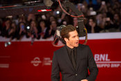 Jake Gyllenhaal and Jeff Bauman on the red carpet for Stronger at the Rome International Film Festival, , Rome Italy, 28 Oct, 2017