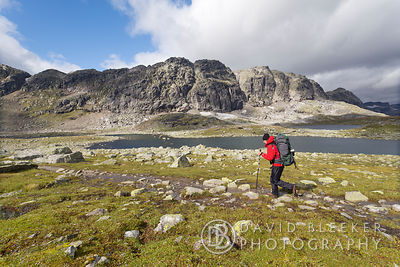 Hiking on the Hardangervidda, Norway