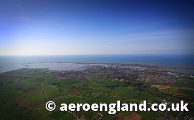 aerial photograph of Barrow-in-Furness Cumbria England  UK