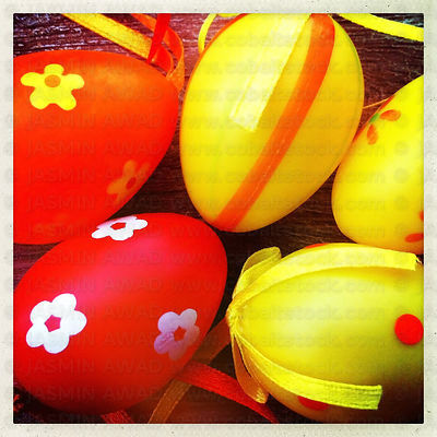 Cute Easter Eggs Smartphone Filter Effect