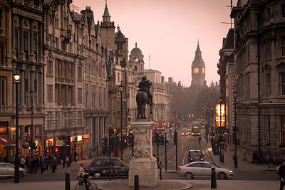 View from Trafalgar Square - London Travel Photography