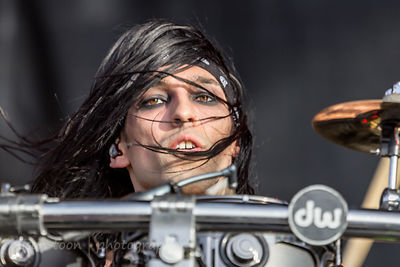 "Christian ""CC"" Coma, drums, Black Veil Brides"