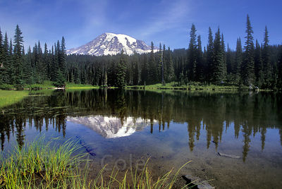 Mount Rainier and Reflection Lake, Washington