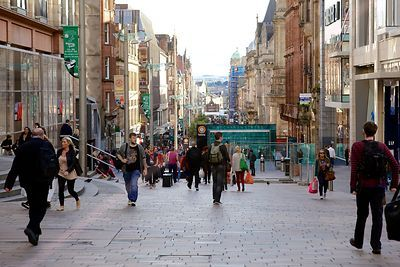 Shoppers in Glasgow's Buchanan Street