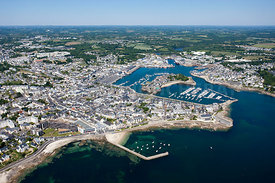 photo aerienne de Concarneau