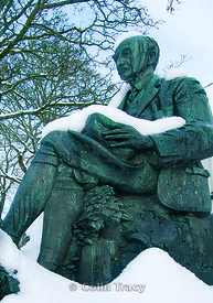 Thomas hardy Statue in Winter, Dorchester, Dorset