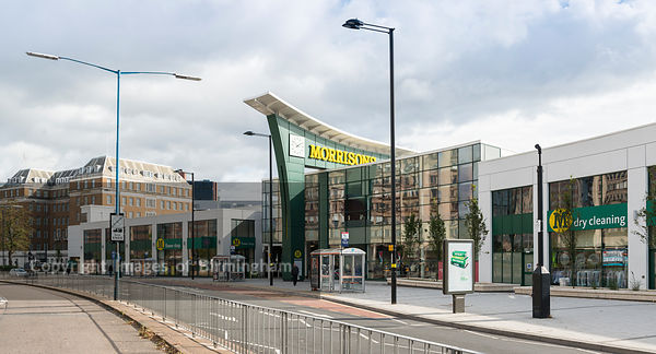 Morrisons and Marriott Hotel at Five Ways, Edgbaston, Birmingham