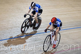 Junior Women Sprint 3-4 Final. 2016/2017 Track O-Cup #3/Eastern Track Challenge, Mattamy National Cycling Centre, Milton, On, February 11, 2017
