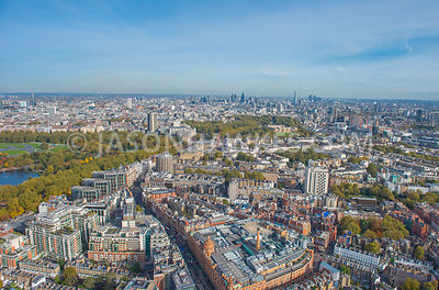 Knightsbridge, aerial view, London