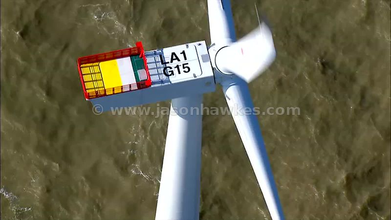 Aerial footage of Kentish Flats wind farm