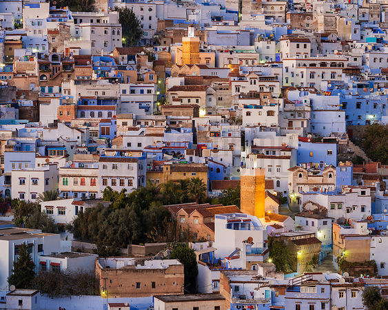 Elevated View of the City of Chefchaouen