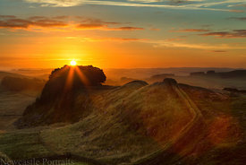 Hadrians Wall Sunrise