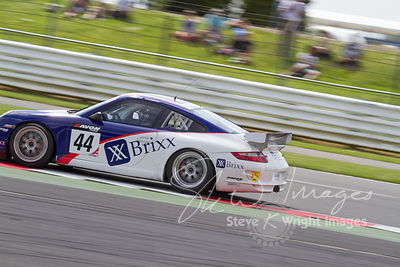 Team Parker's Porsche 911 GT4 in action at the Silverstone 500 - the third round of the British GT Championship 2014 - 1st June 2014