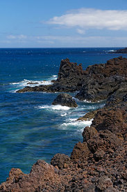 Los Hervideros, volcanic coastline near Playa Blanca, Lanzarote, Canary Islands, Spain.