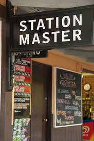 The station master sign