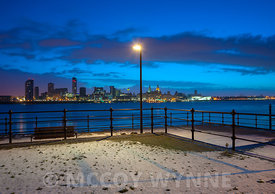 Liverpool Waterfront after Light Snowfall