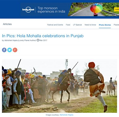 Hola Mohalla celebrations in Punjab; Lonely Planet March 2017 photos