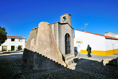 The dolmen and chapel of Pavia, Alentejo. Portugal