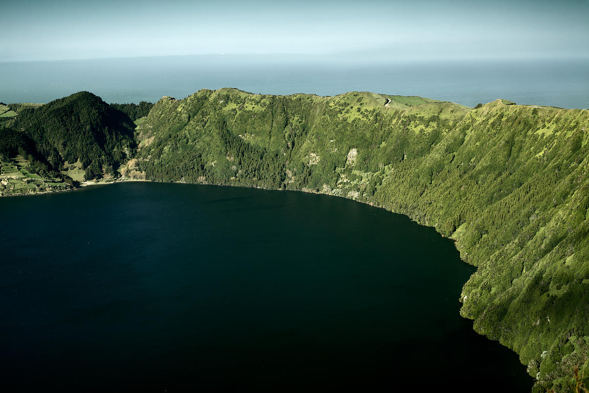 Edge of crater lake